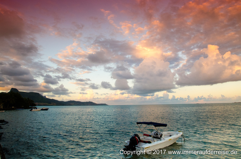 Mauritius Sonnenuntergang - www.immeraufderreise.de