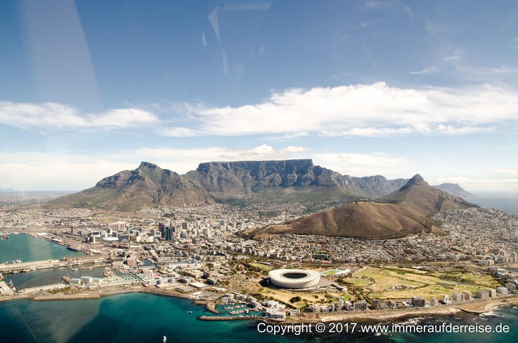 Kapstadt aus der Luft - www.immeraufderreise.de