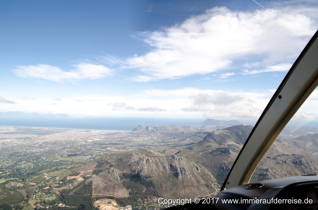 Hubschrauberrundflug Kapstadt - www.immeraufderreise.de