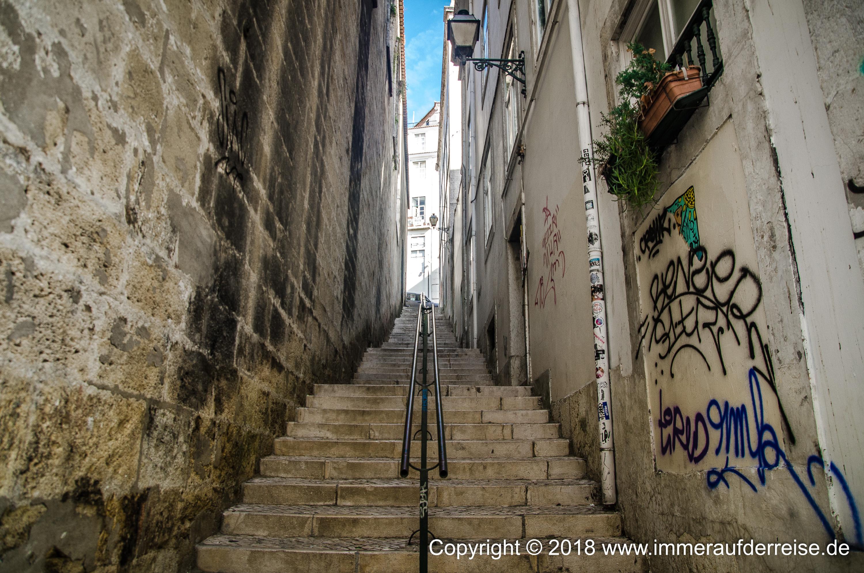 Im Stadtteil Alfama Lissabon