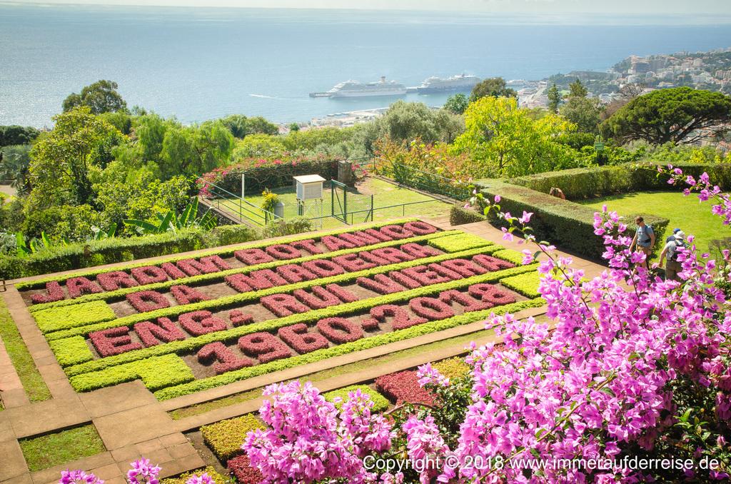 Blick auf den Hafen Botanischer Garten Funchal